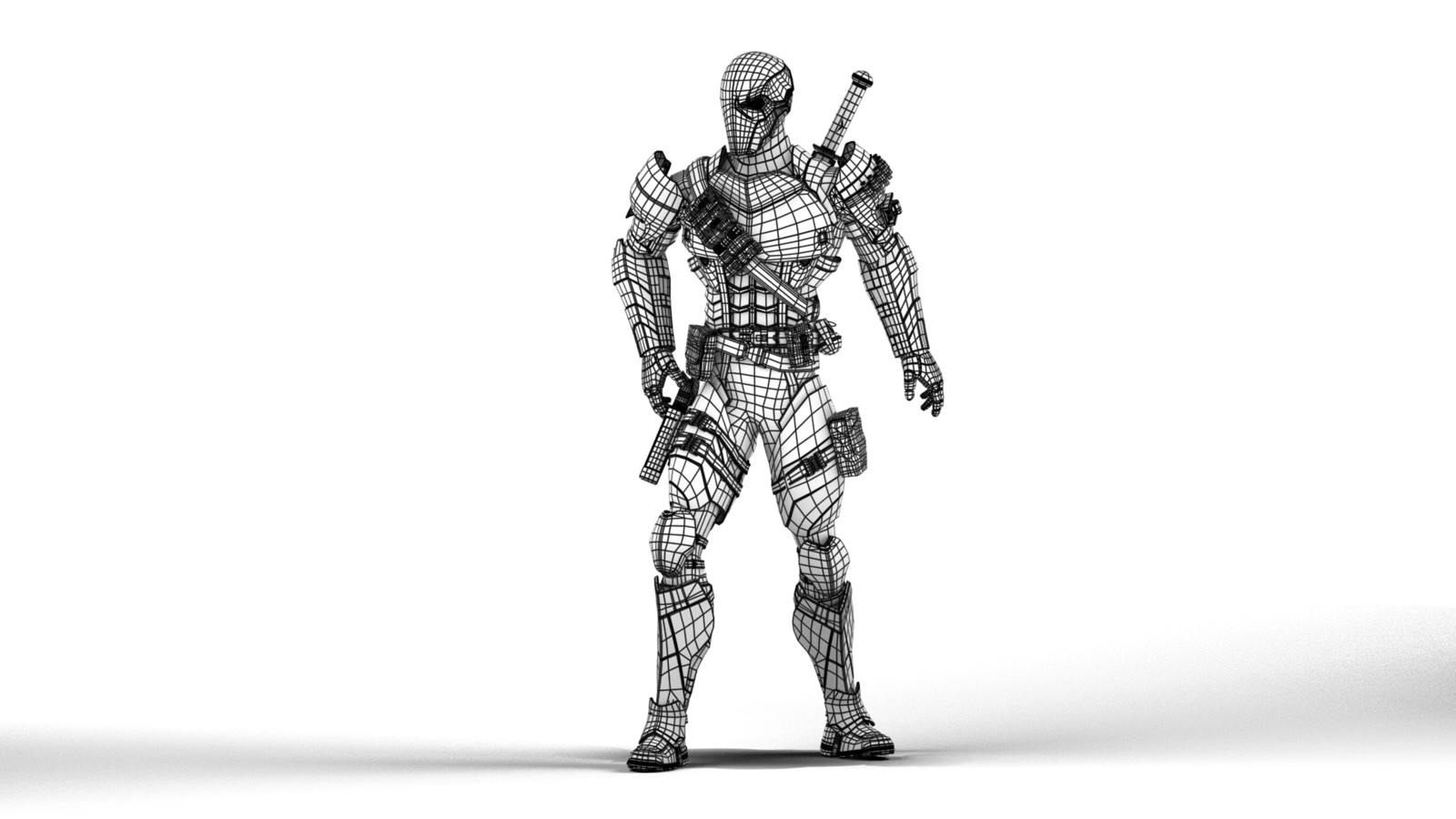 Deathstroke Wireframe Front