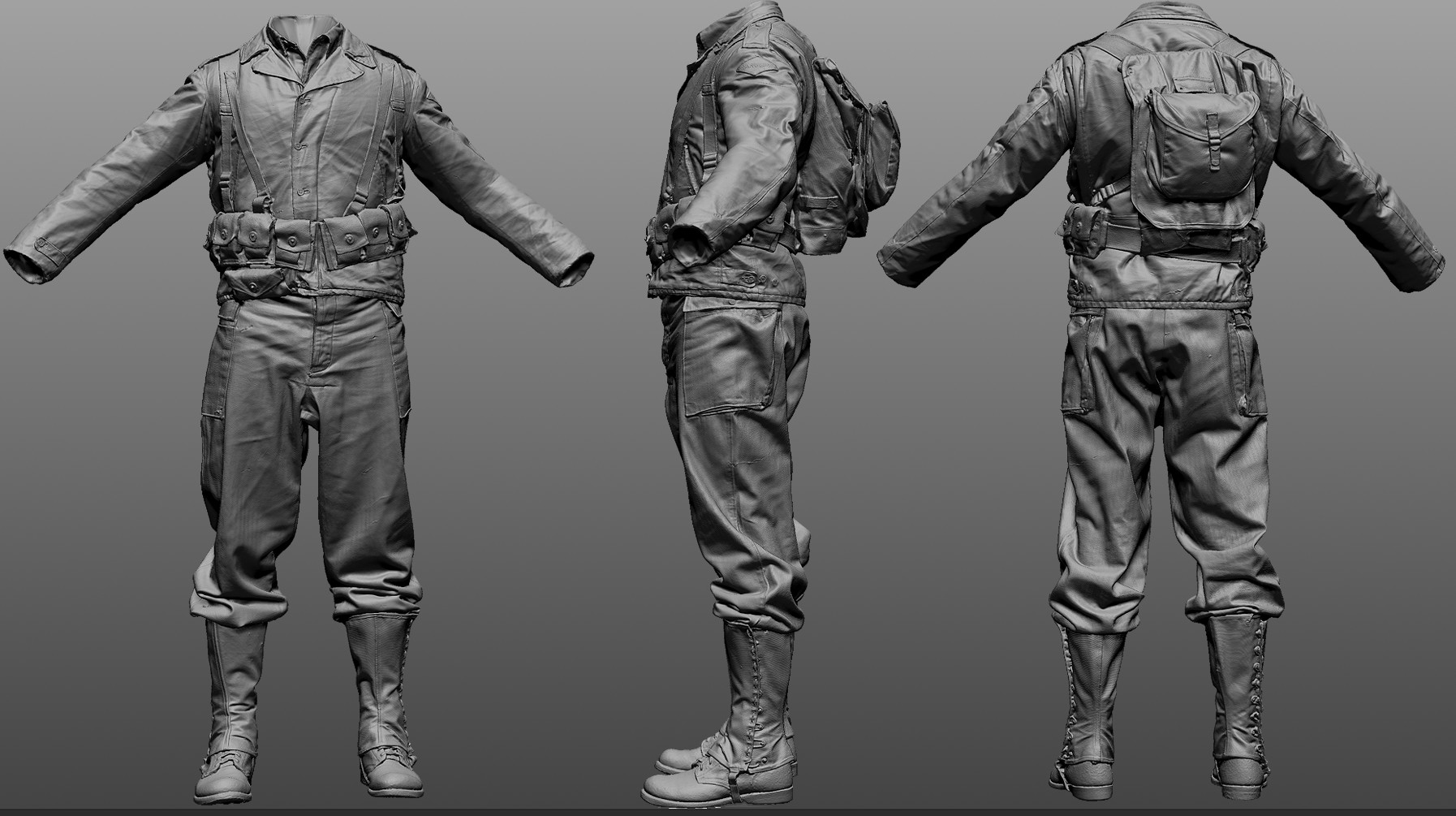 Stirling rank ranger zbrush highpoly