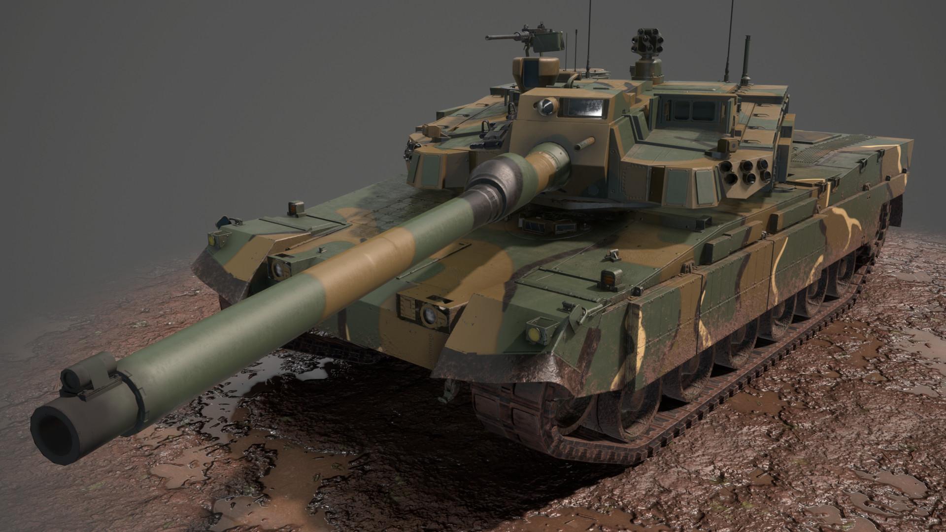 ArtStation - K2 Black Panther MBT, Brad Boyles