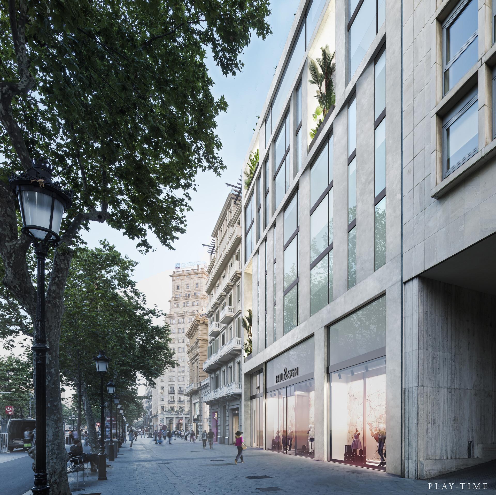 Play time architectonic image group g4 oficines a passeig de gracia barcelona 02