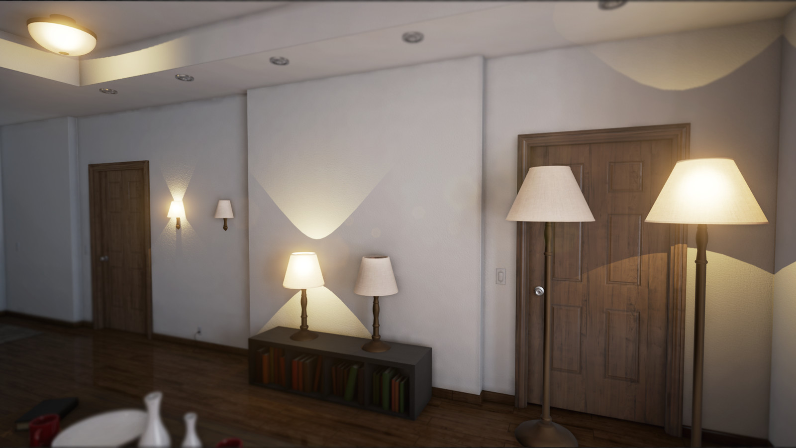More shots from within the realistic rendering demo in Unreal