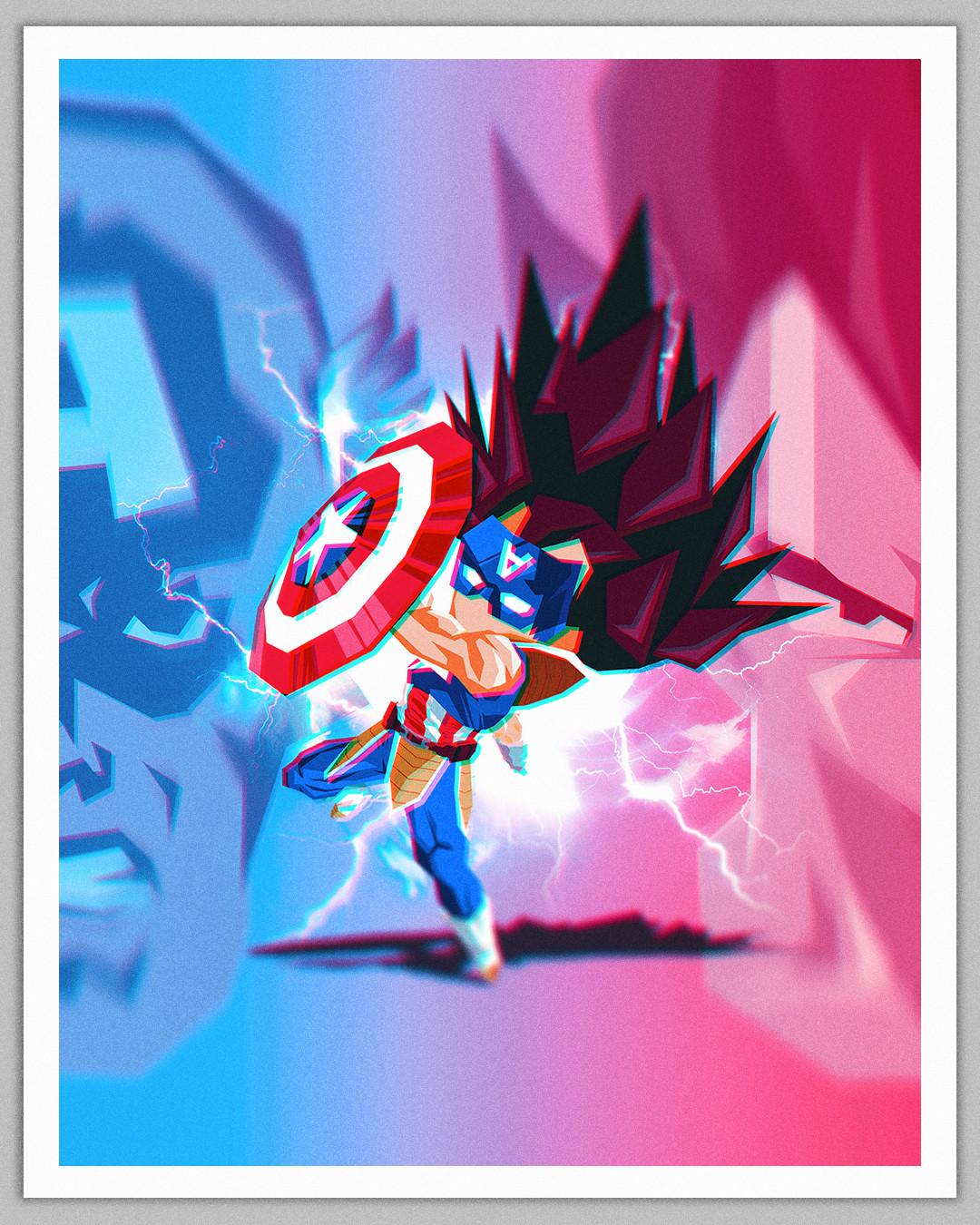 Vegeta x Captain America