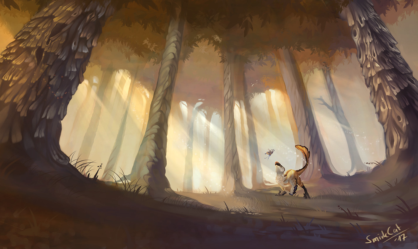 Smirk cat forest final