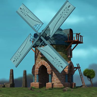 Stylized Windmill