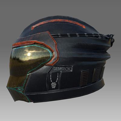 Sci-fi Helmet, Shield, and Sword