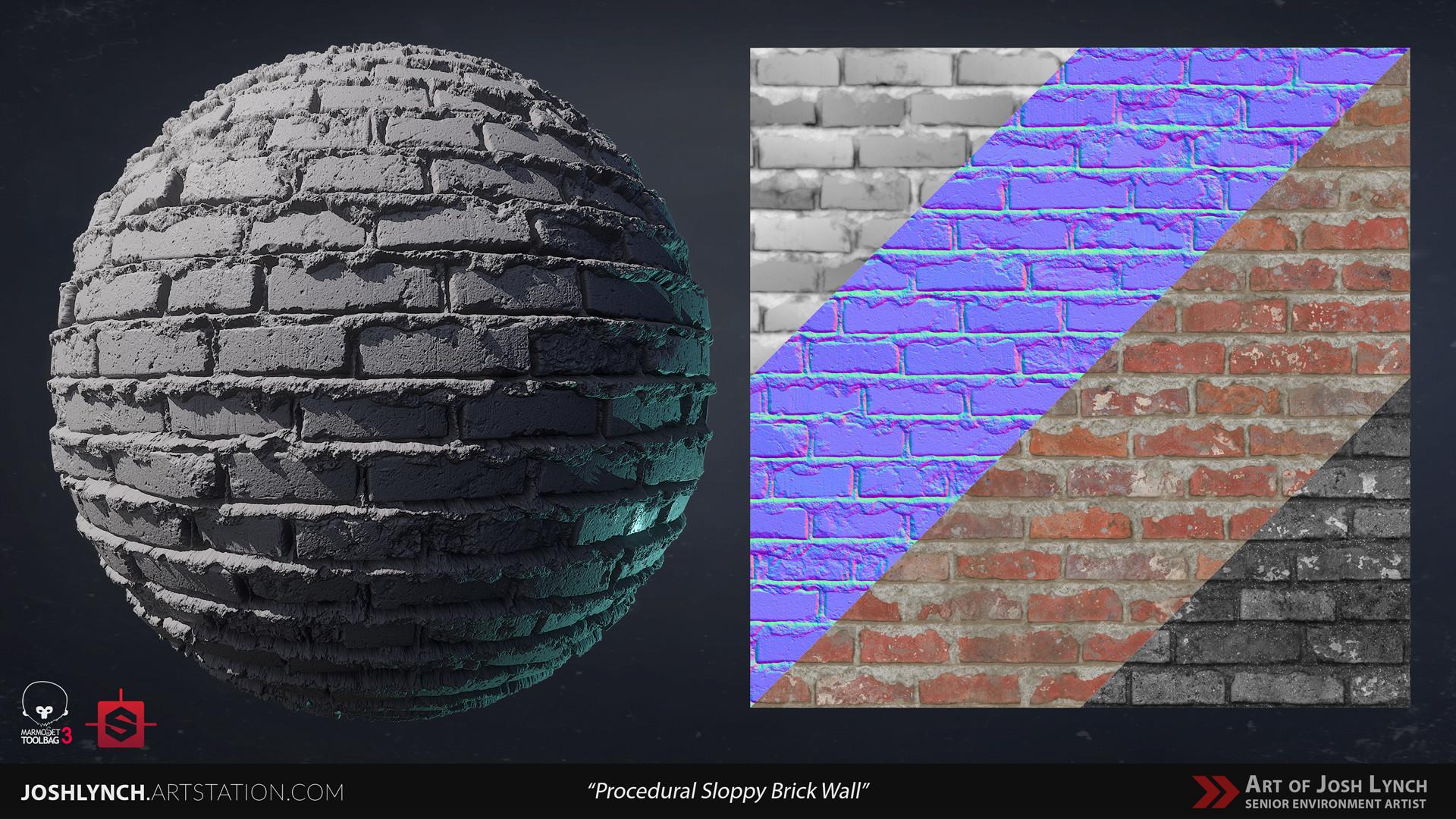Joshua lynch wall brick sloppy 02 comp sphere 01 gray