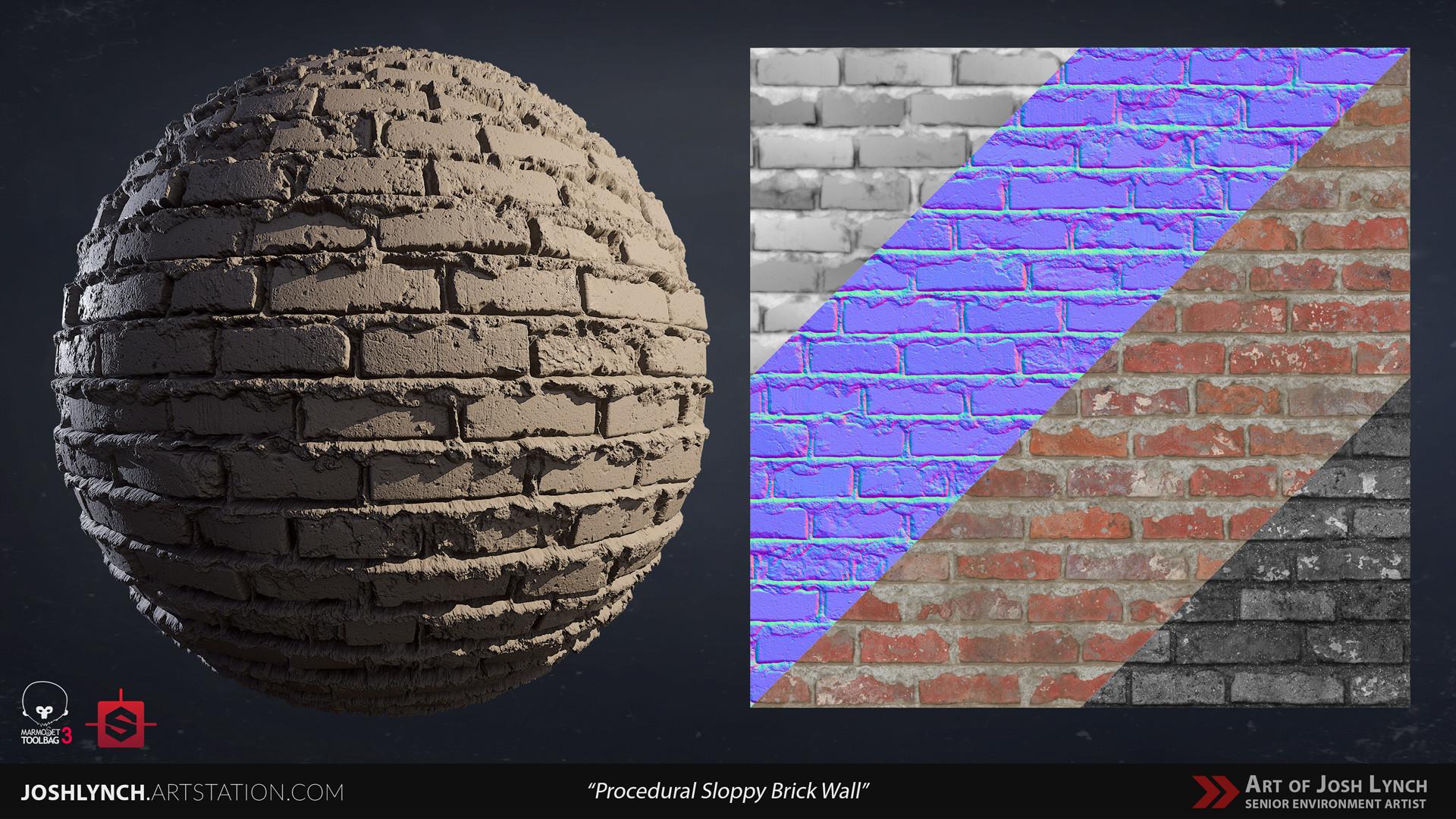 Joshua lynch wall brick sloppy 02 comp sphere 02 gray