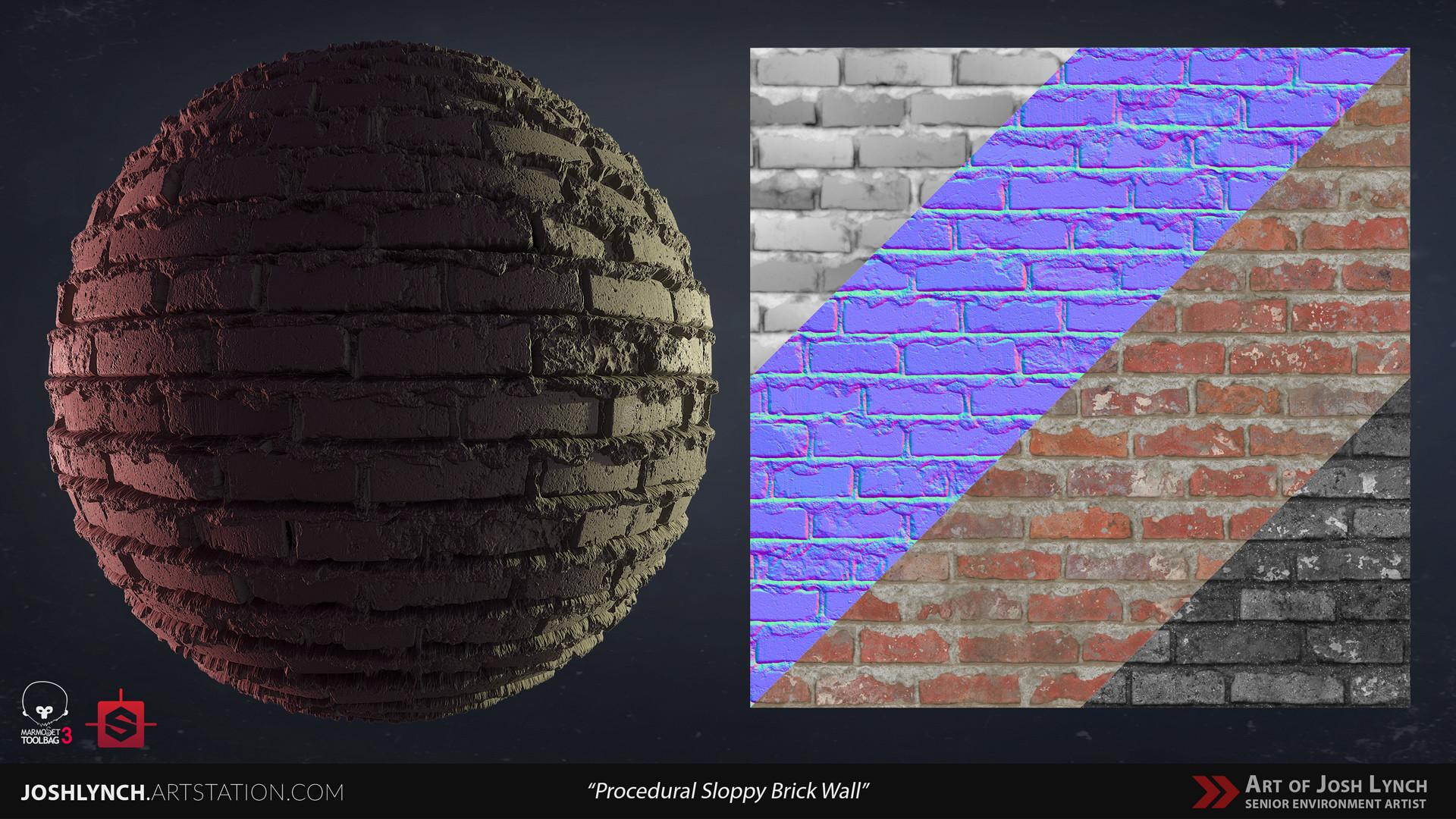 Joshua lynch wall brick sloppy 02 comp sphere 04 gray