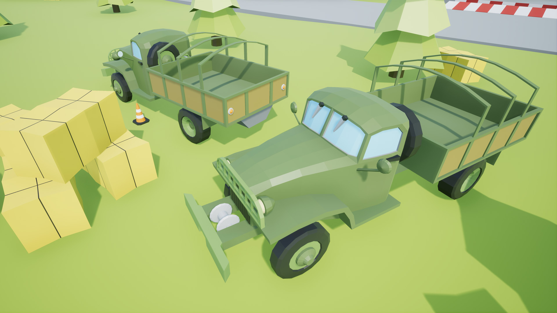 ArtStation - Low poly vehicles military pack 2, Núria Blanch