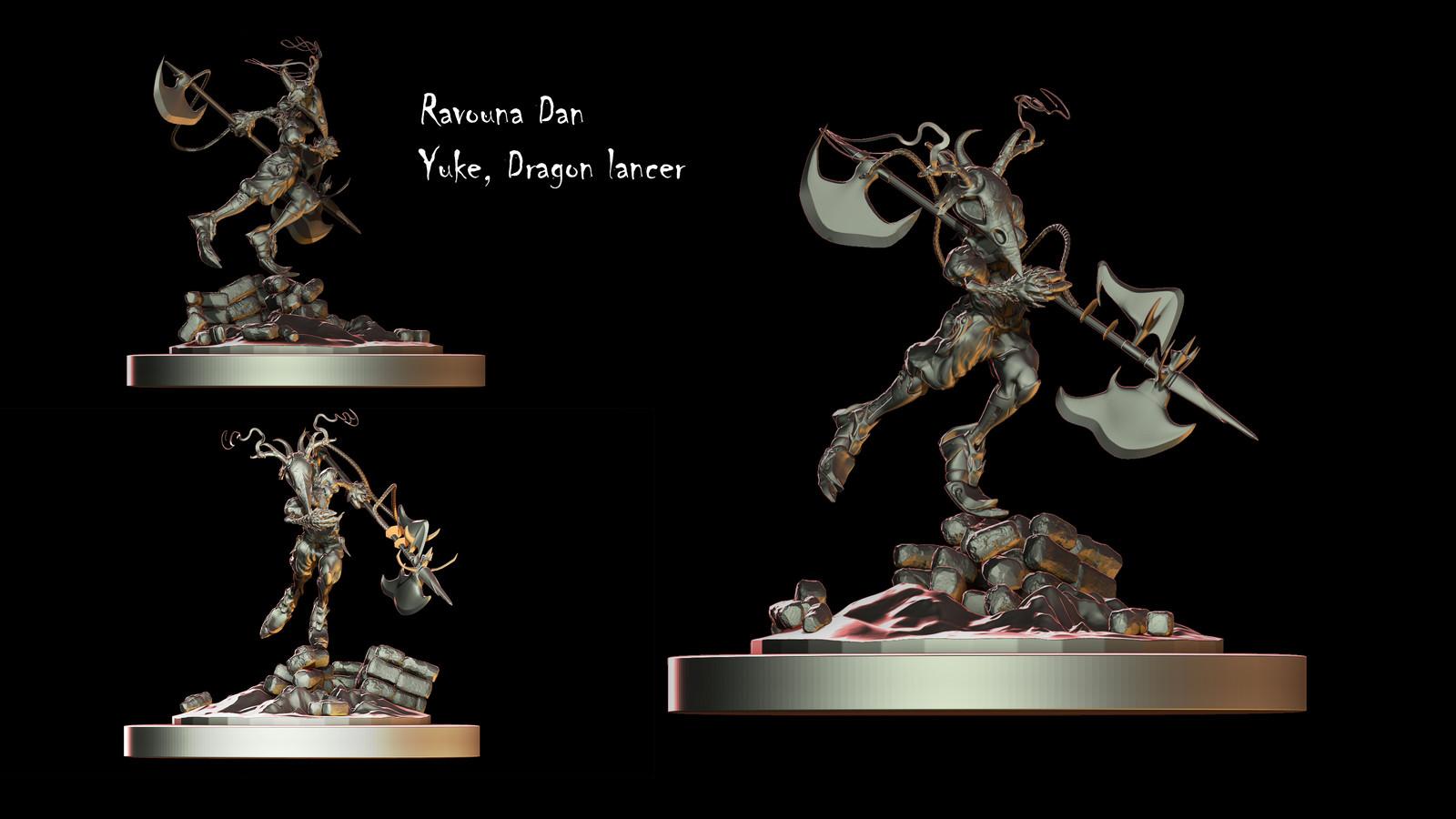 Artstation Yuke Dragon Knight Final Fantasy Crystal
