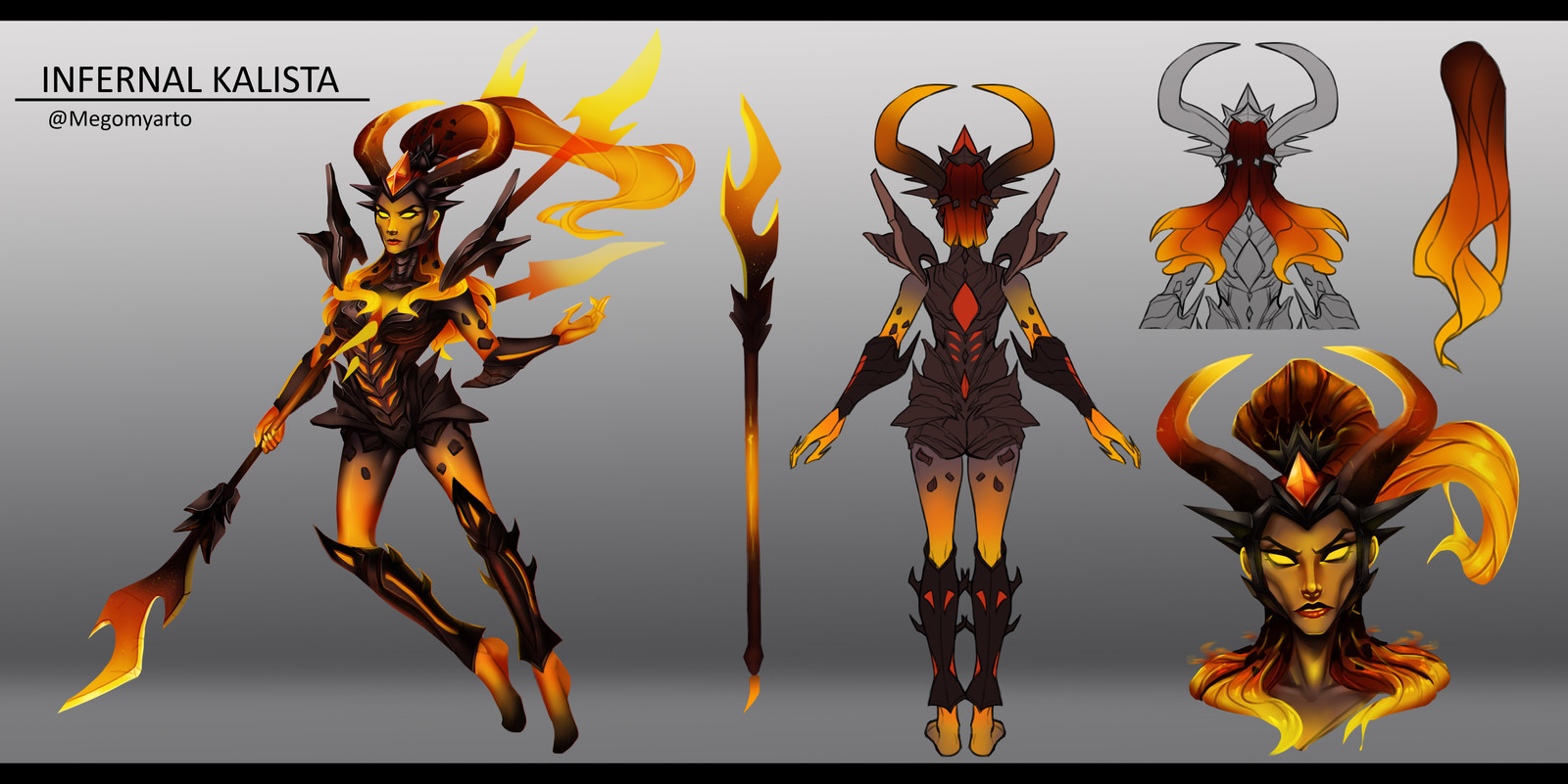 Infernal Kalista - Concept Art