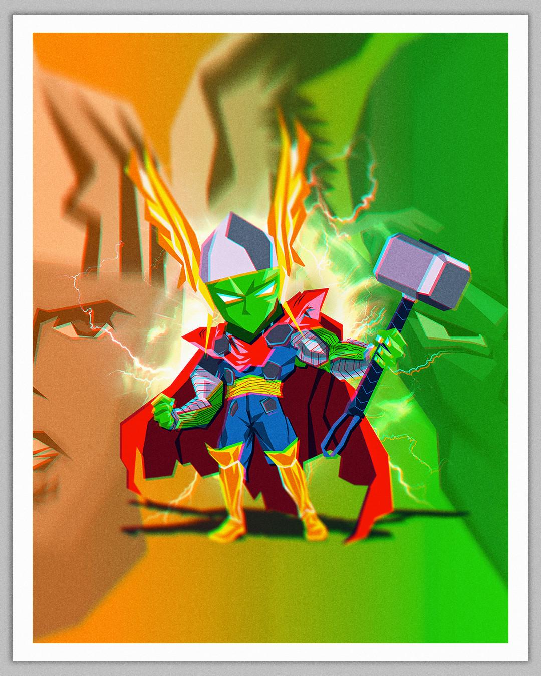 Piccolo x Thor