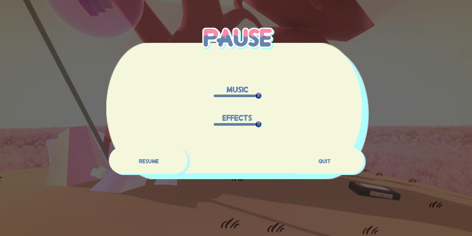 Pause Menu Design