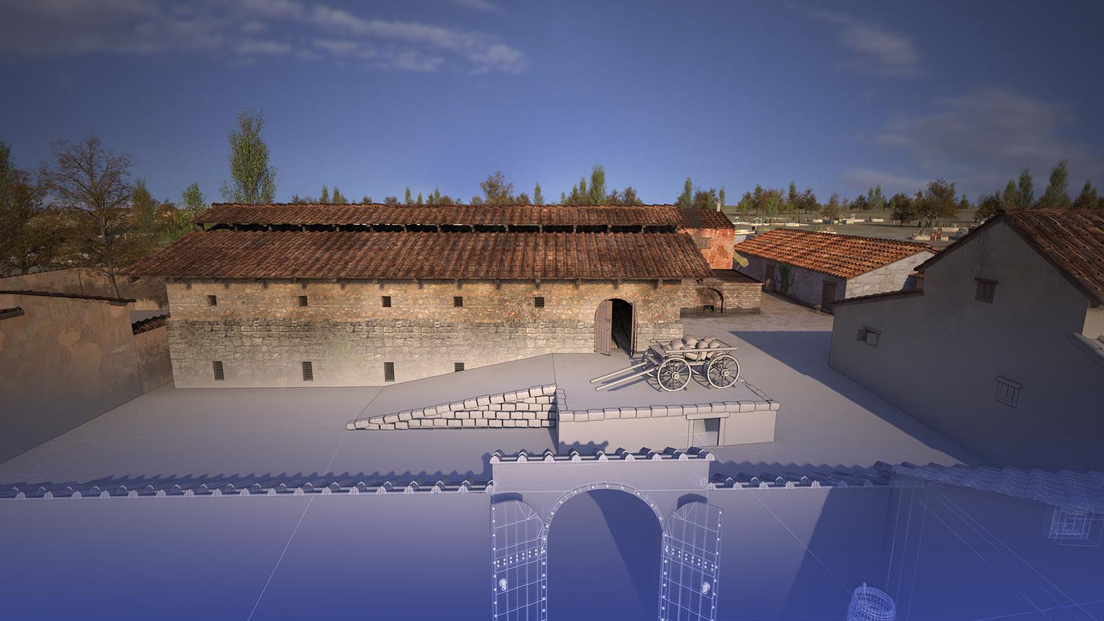 Horreum (Roman granary) - visualization process