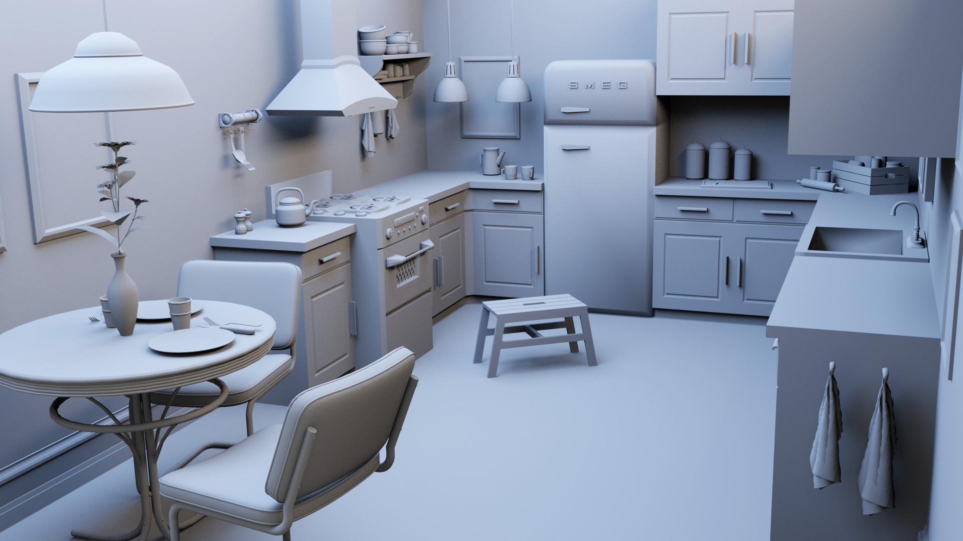 Mia Marié Boas - Tiny Spy - Kitchen Scene