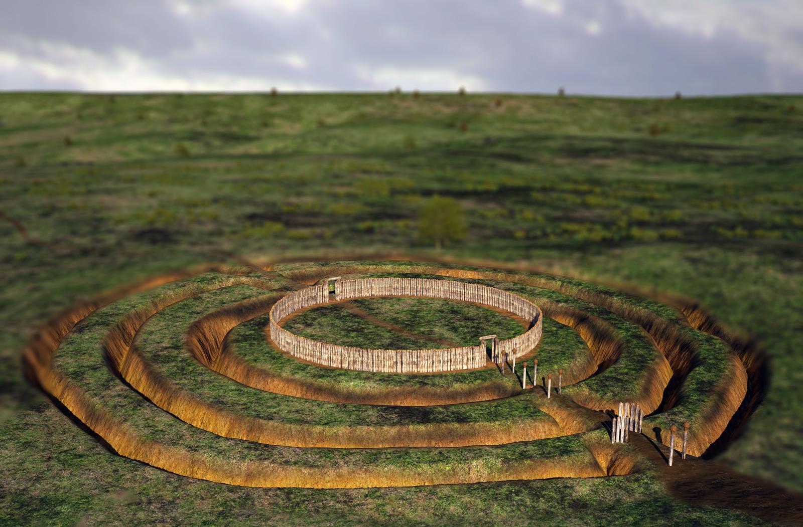 """""""Kreisgrabenanlage"""" or Neolithic circular enclosure of Hornsburg"""