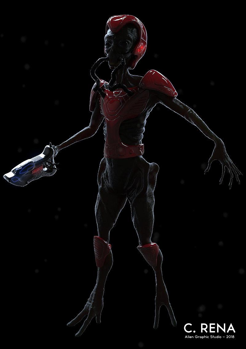 Keyshot render (red armor)