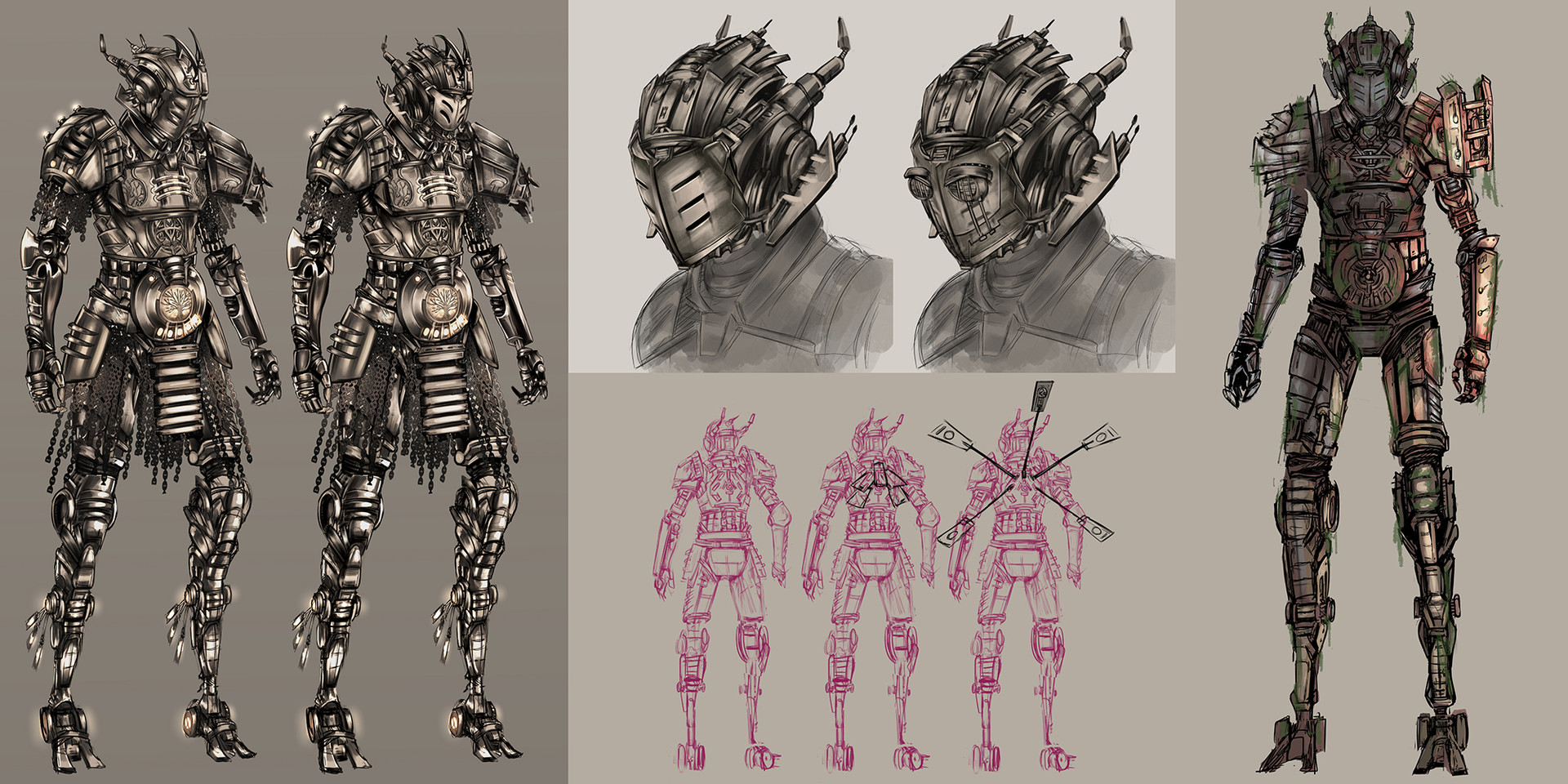 Drelis myriddian knight sketches3