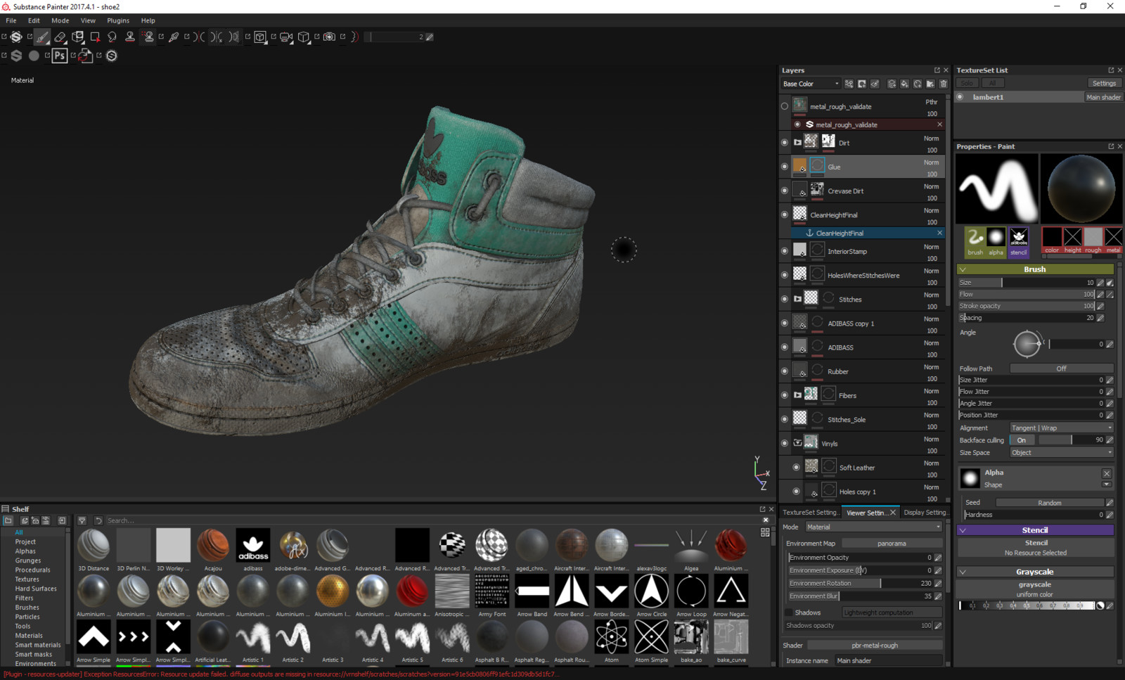 The Substance Painter file.