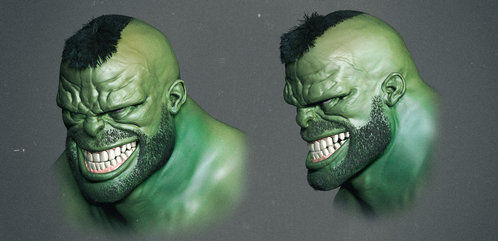 Hulk 3D speed sculpt inspired by a concept by Ben Oliver