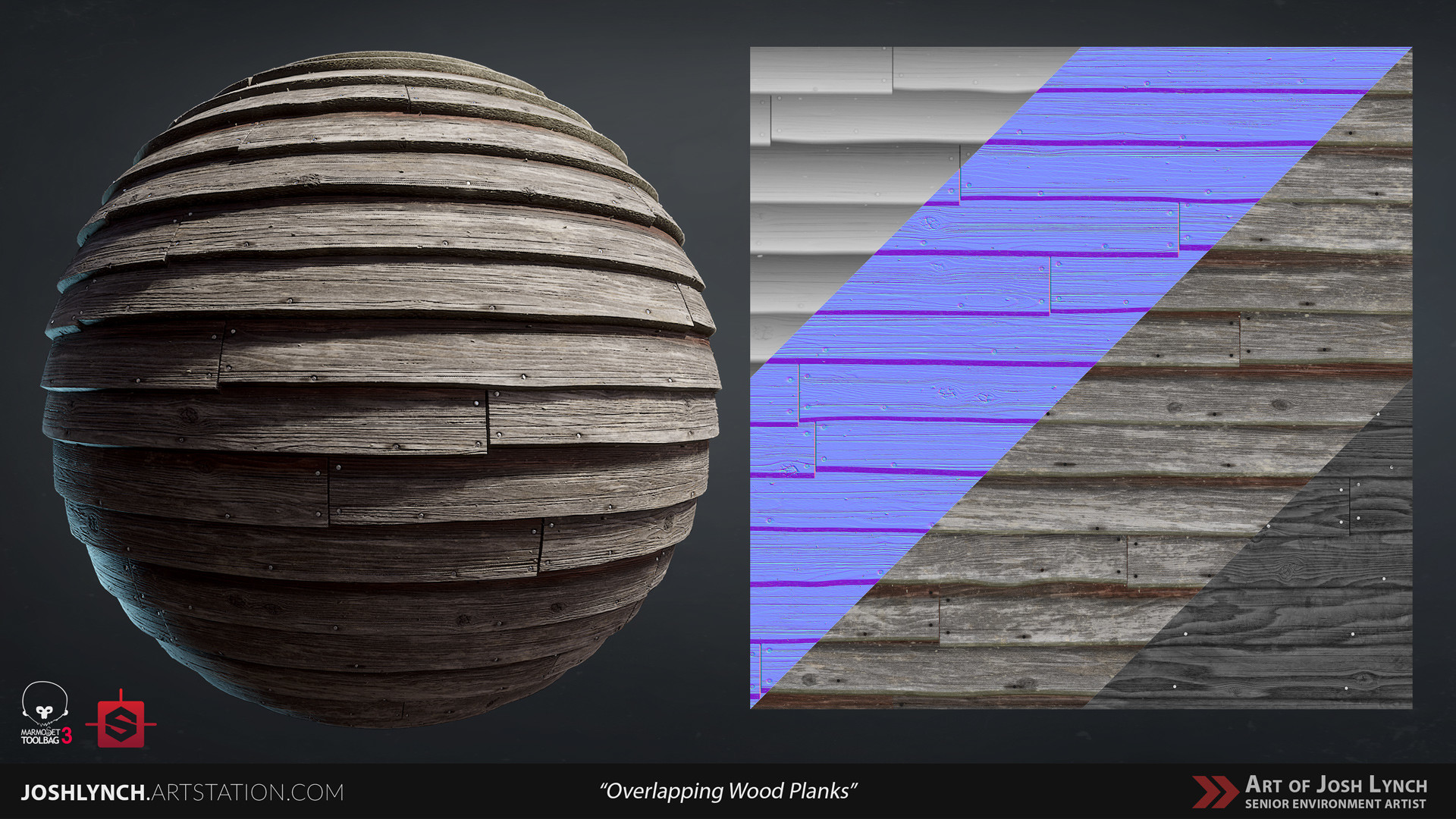 Joshua lynch wood planks overlapping 01 sphere 01