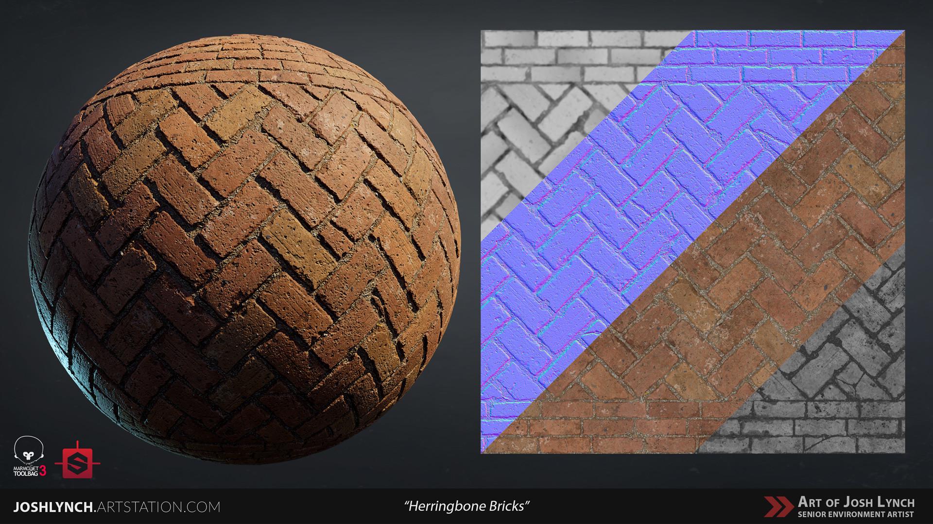 Joshua lynch floor cobblestone herringbone 01 sphere