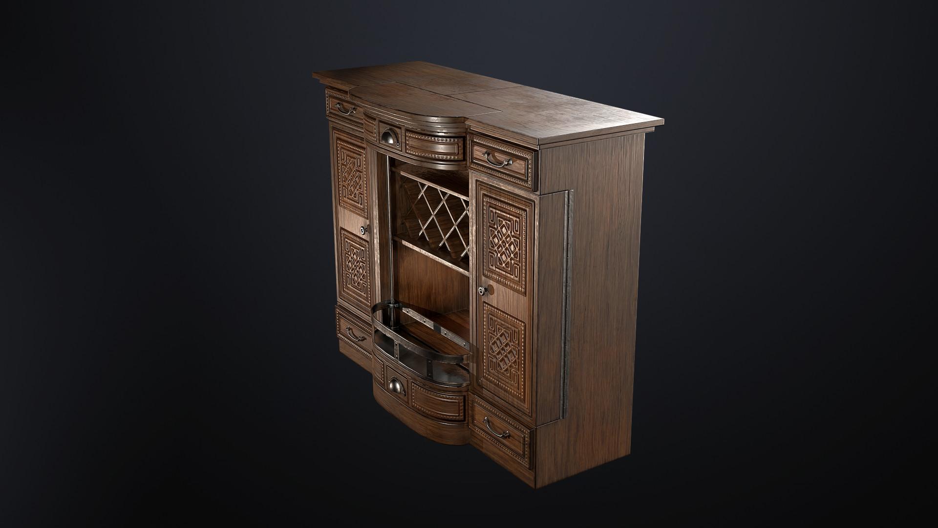 Sami tarvainen liquor cabinet render 4