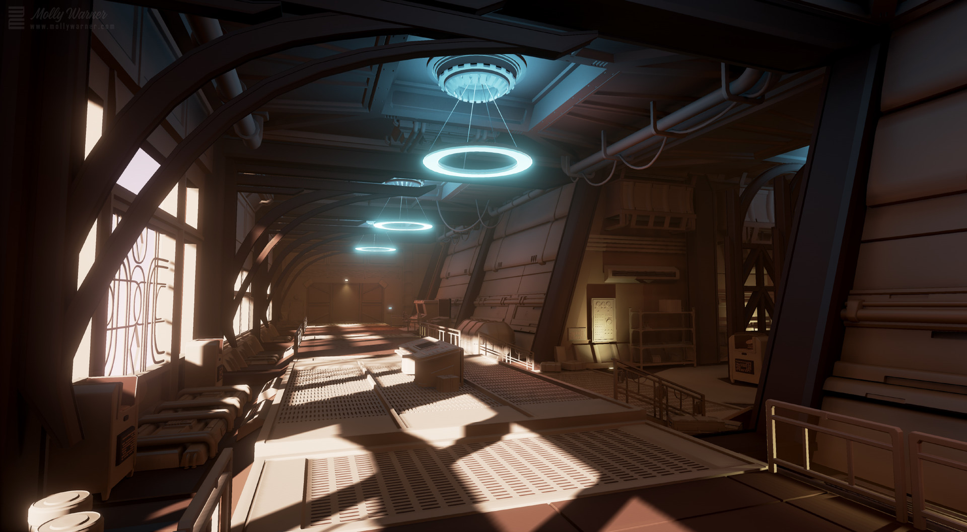 Molly warner art deco sci fi hallway final1