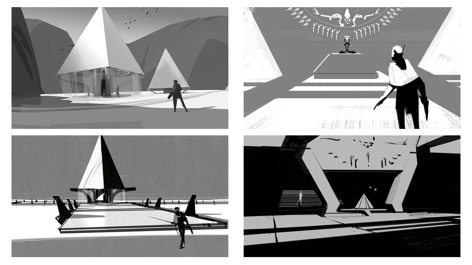 Some quick comps that got me into pushing the bottom ones to the final step.