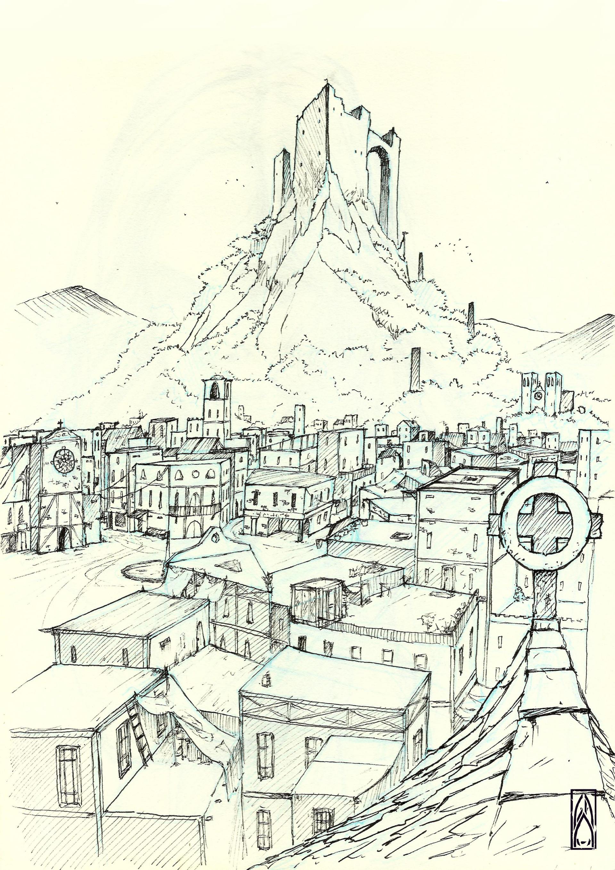 Gustavo arteaga four temples sketch