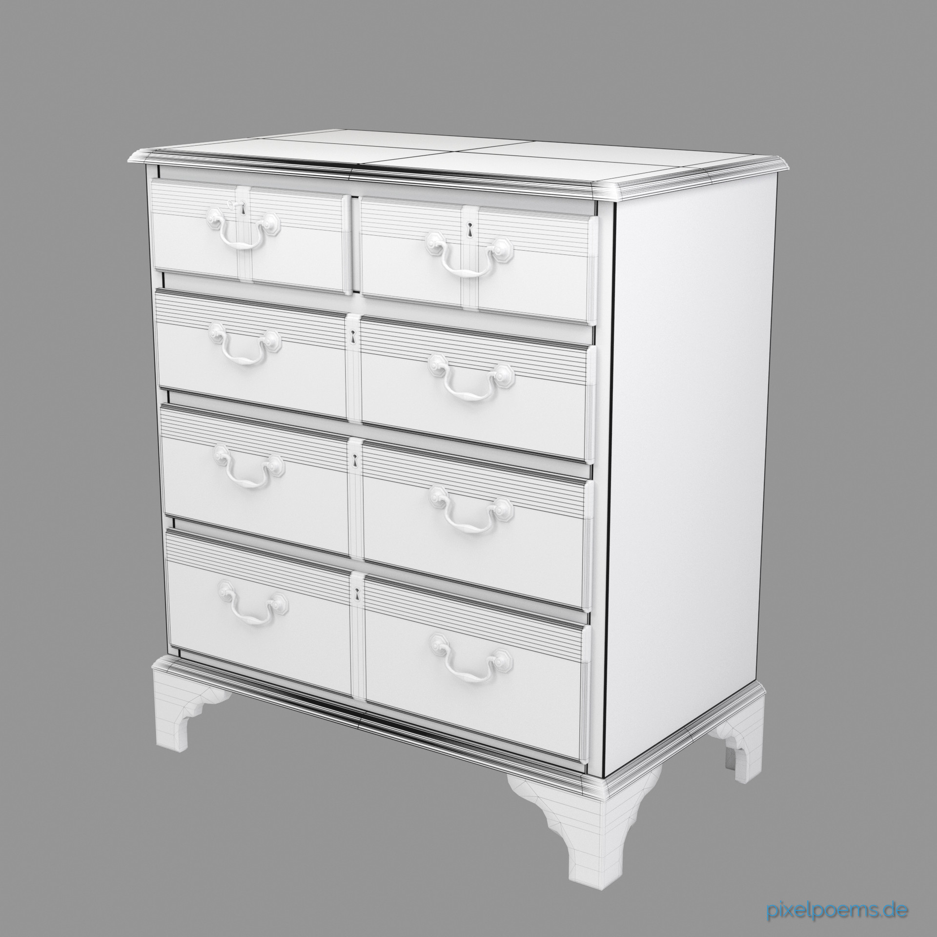 Karl andreas gross mahagony chest of drawers webversion 09