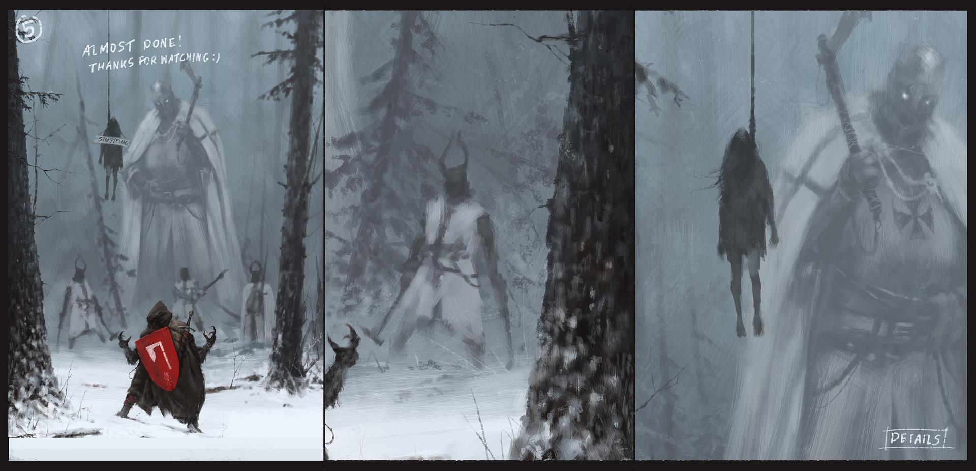 Jakub rozalski starza wolfpack process3
