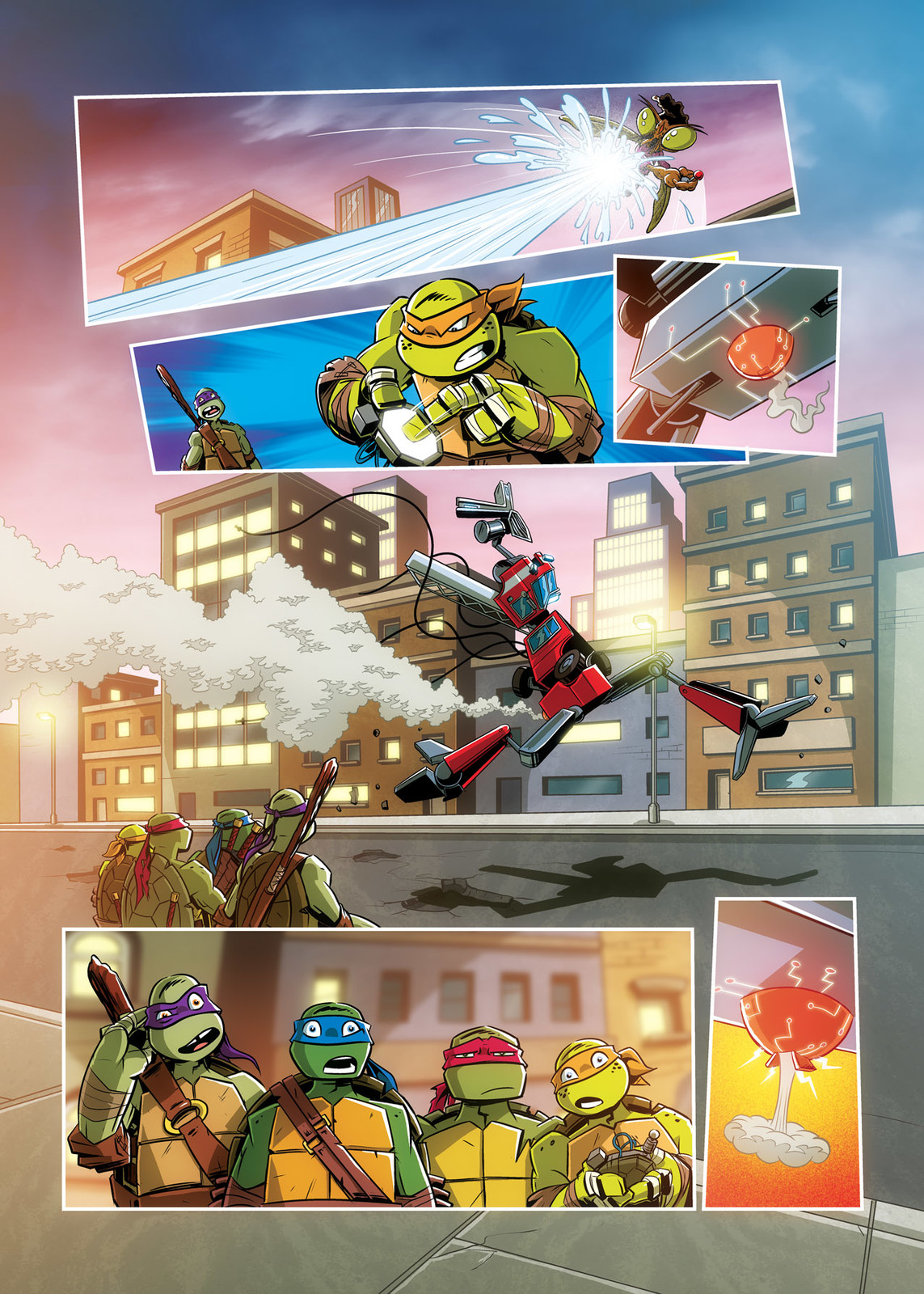 Page excerpt from Nickelodeon/Panini's Teenage Mutant Ninja Turtles comic 'Robo Rumble'