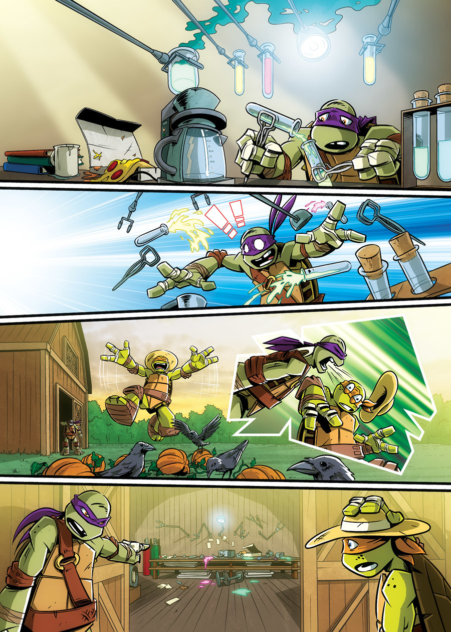 Page excerpt from Nickelodeon/Panini's Teenage Mutant Ninja Turtles comic 'Scare-Bros'