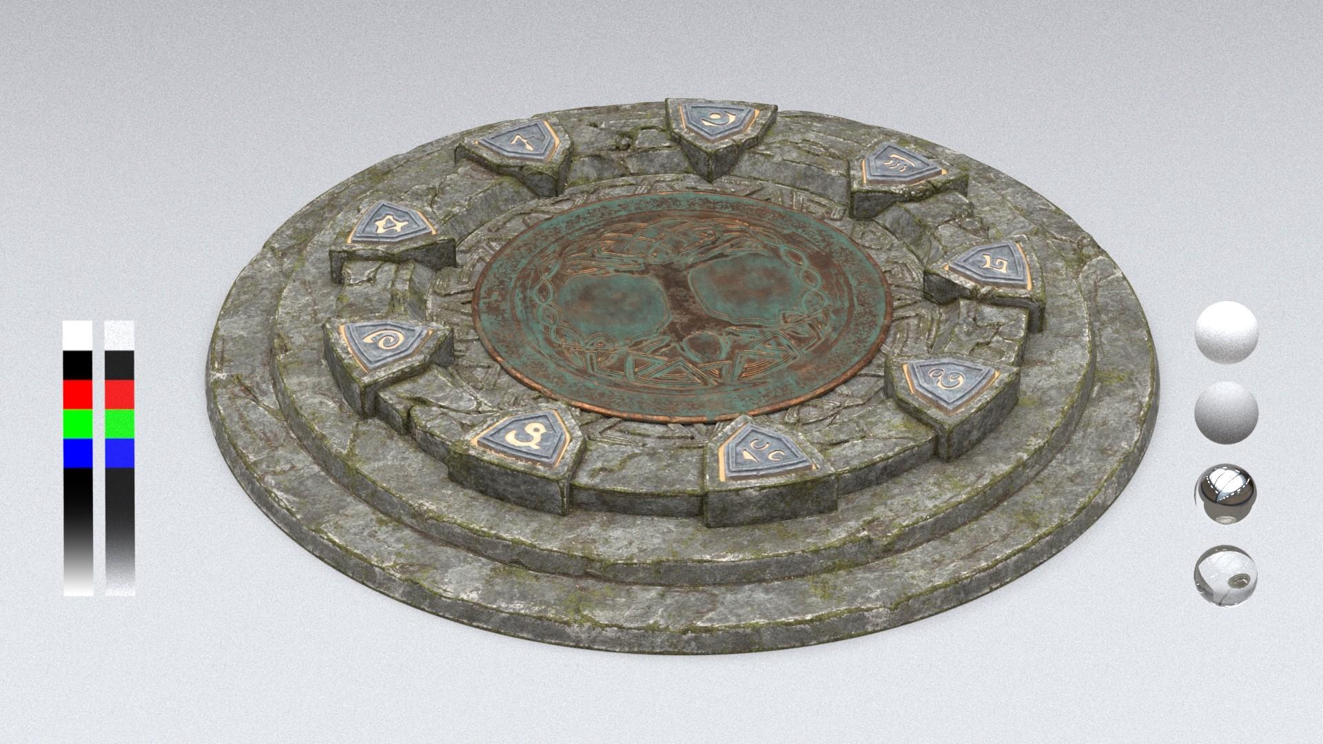 Darko mitev rune circle glow