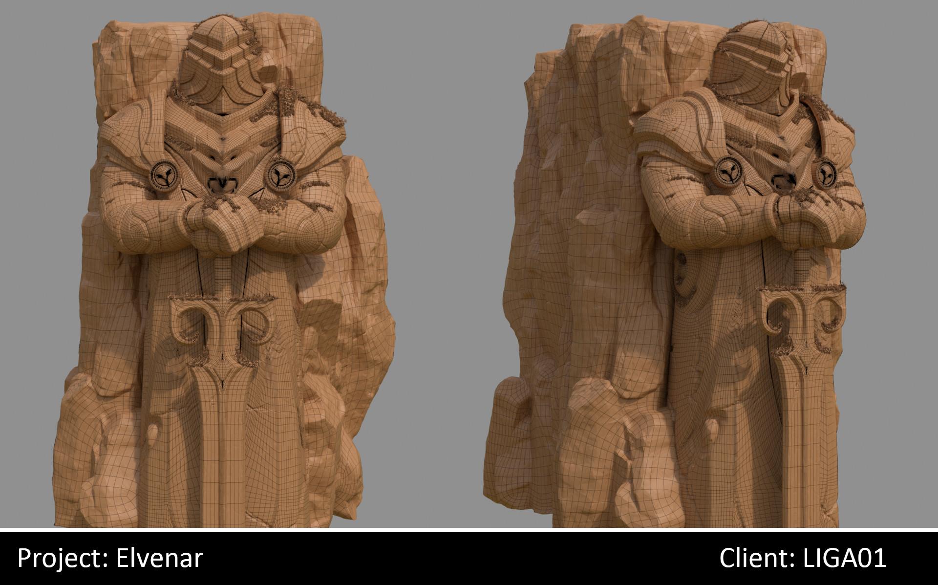 Darko mitev statue01 wireframe