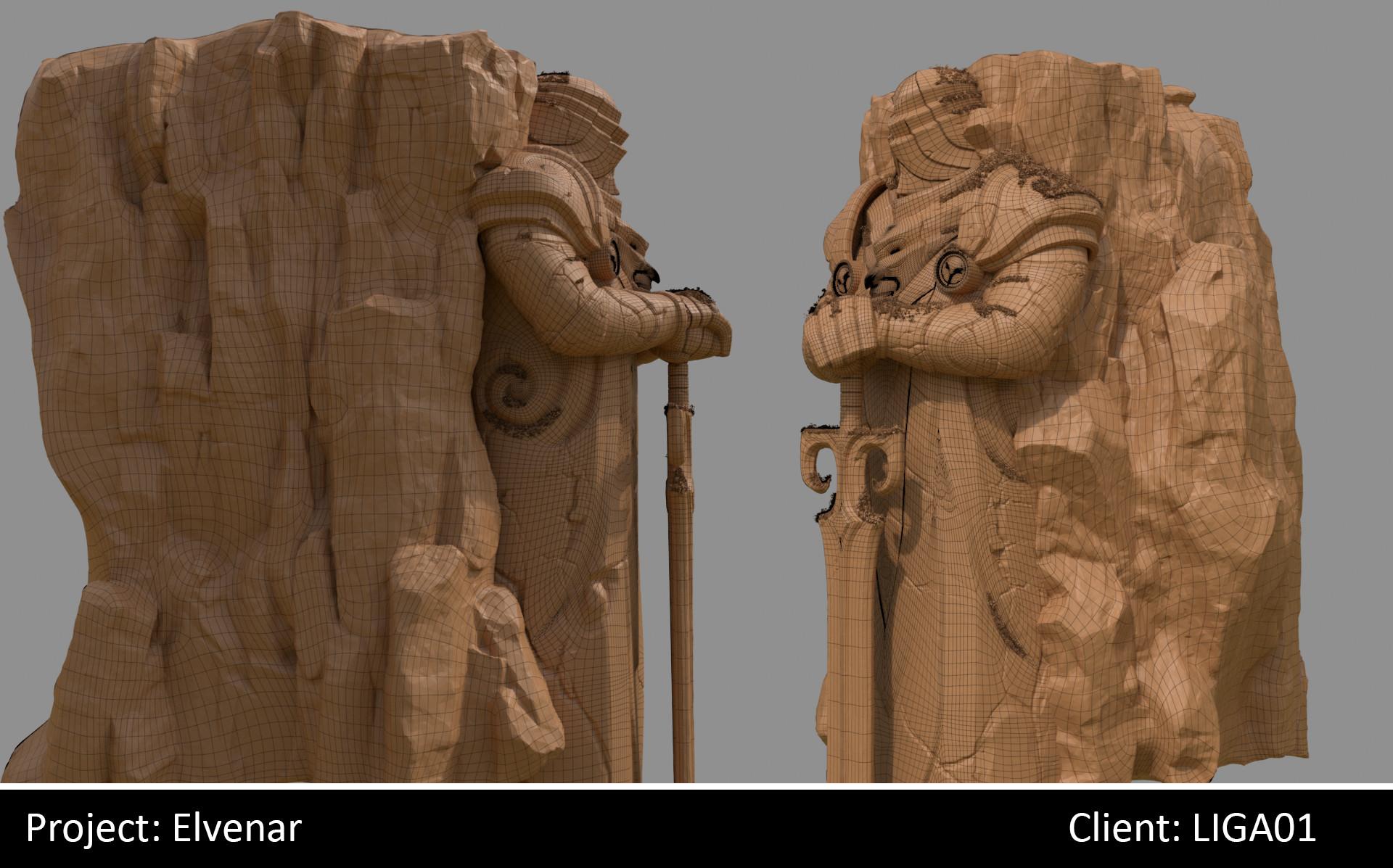 Darko mitev statue02 wireframe