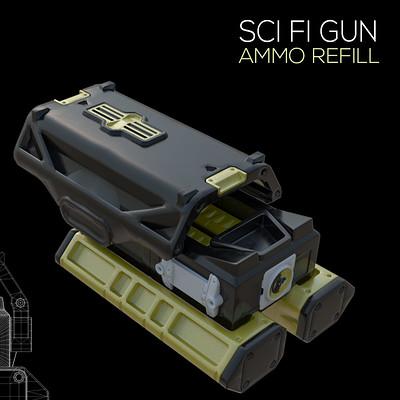 SCI FI GUN - AMMO REFILL