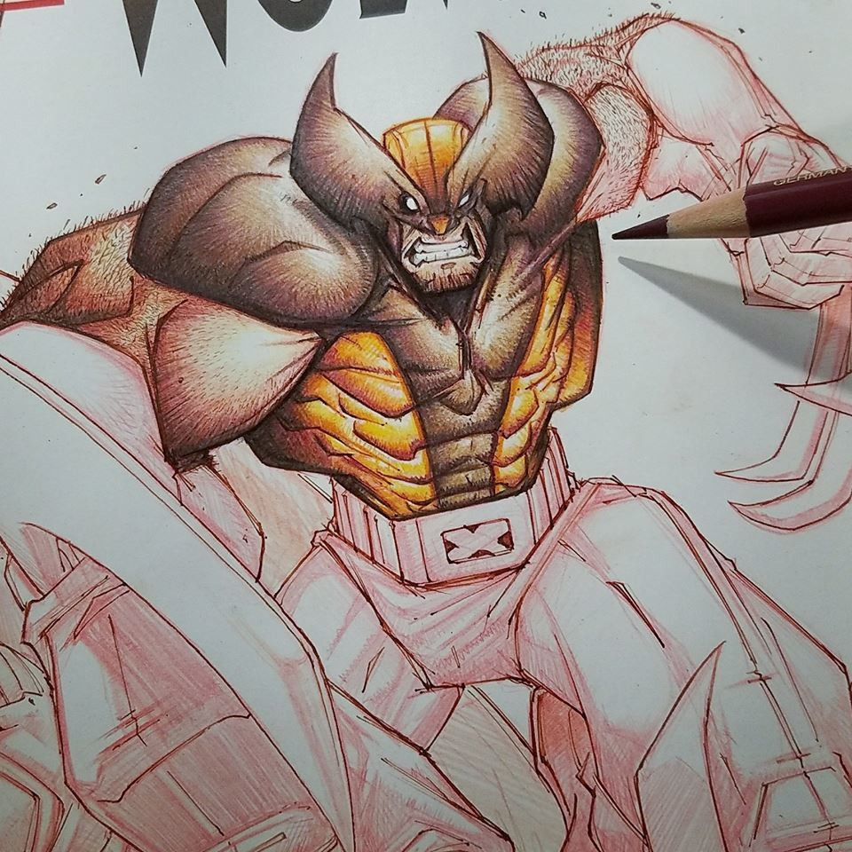 Color pencil wip...