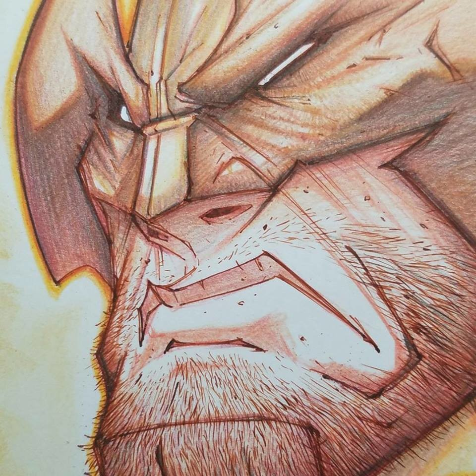 Color pencil wip...