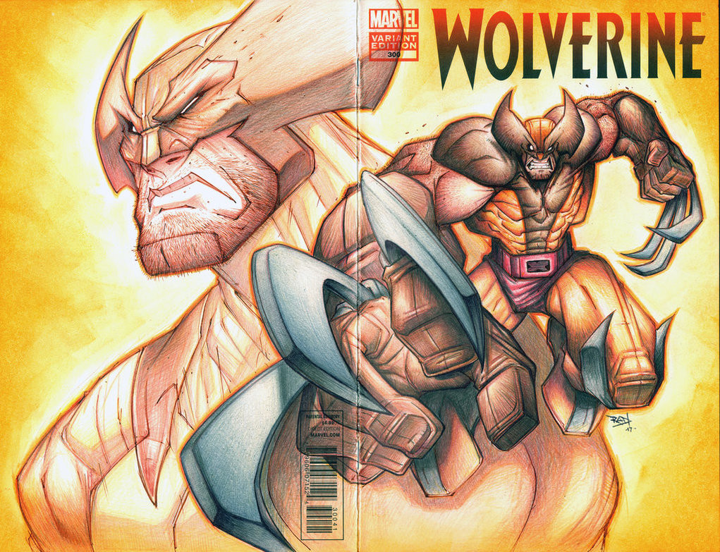 Rob duenas commision wolverine color pencil by robduenas dbtszgo