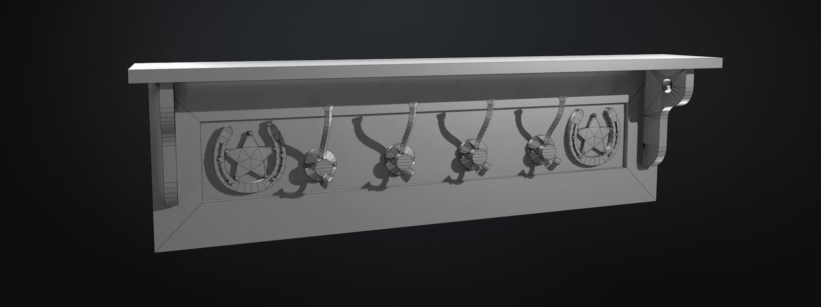 Marmoset render - Wireframe