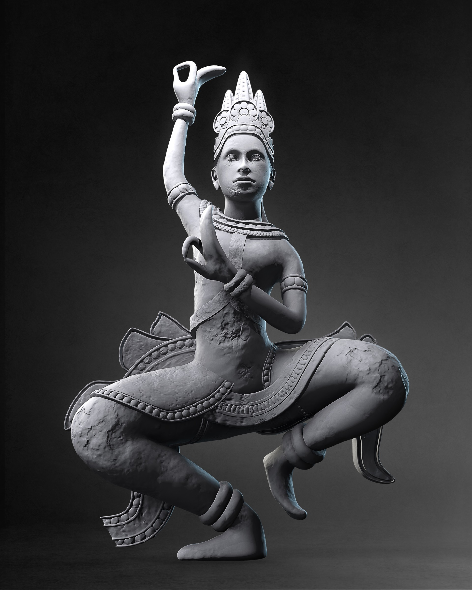 Apsara dancer statue