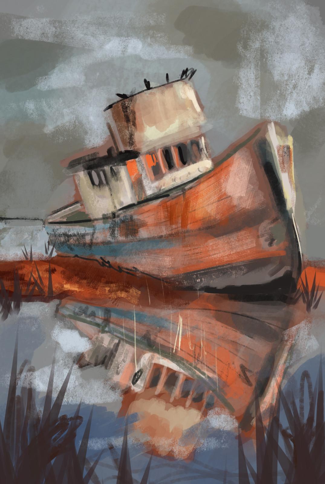 Ship colour study