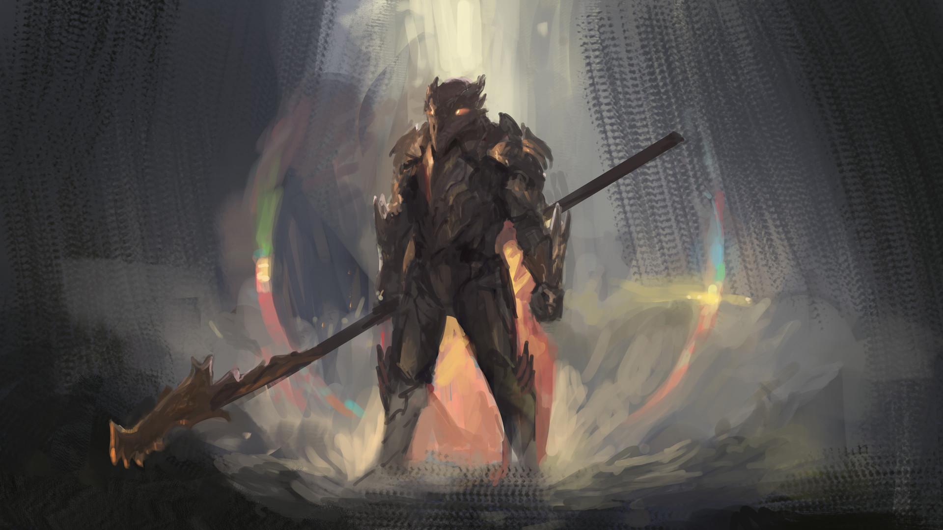 Artstation Dragonborn Paladin Joel Pigou