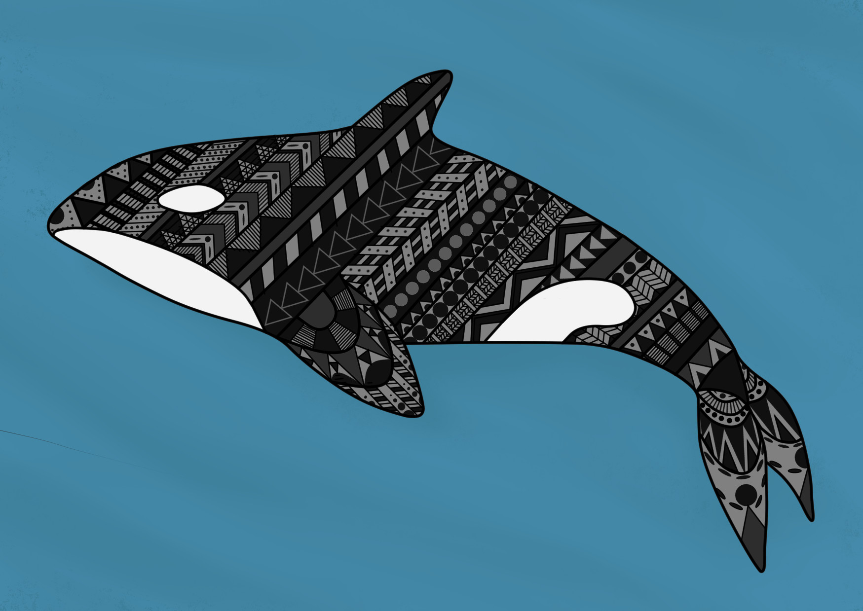Jessica olney patterned whale colored