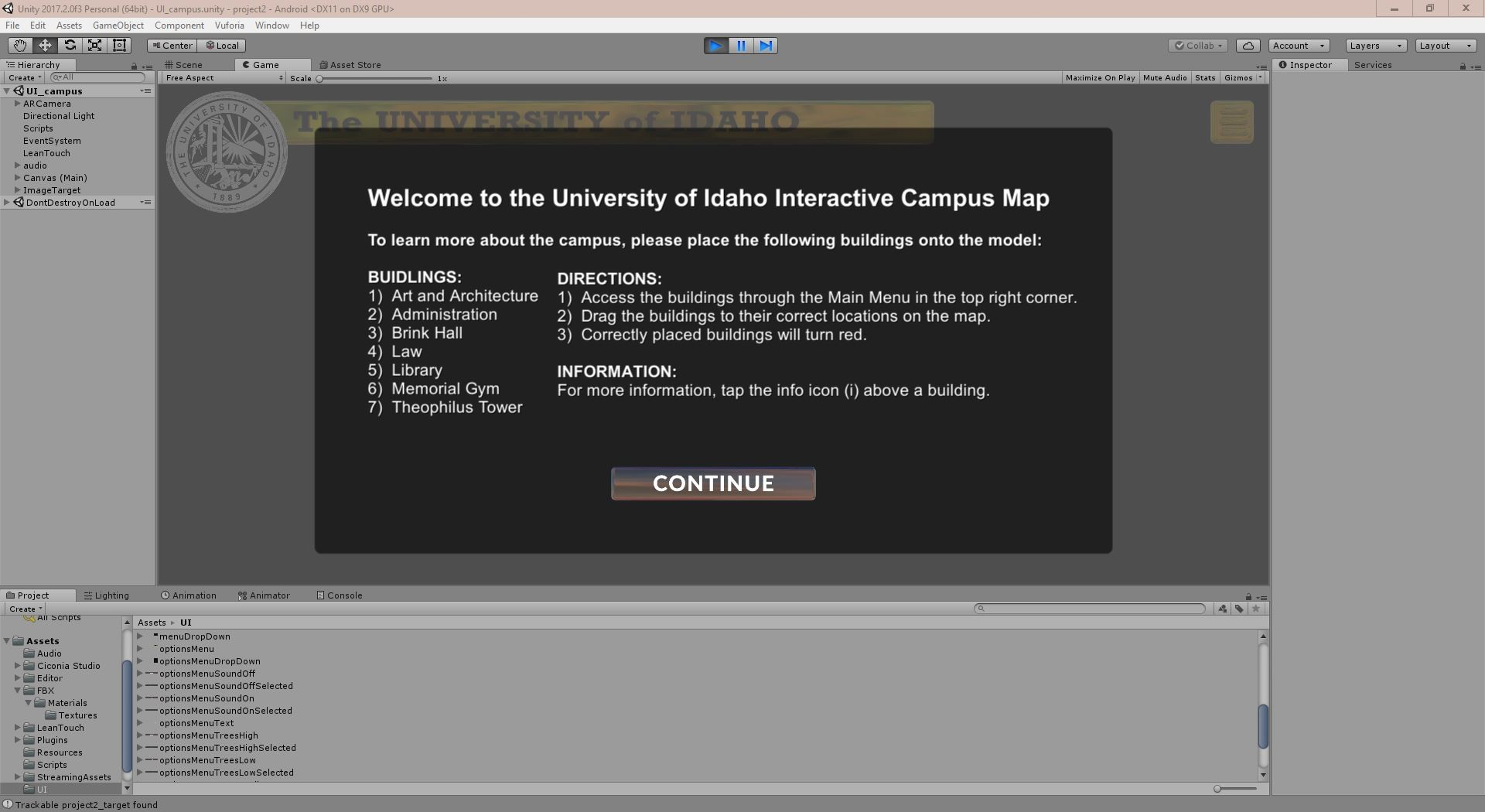 Joseph Byland University Of Idaho Interactive Campus Map
