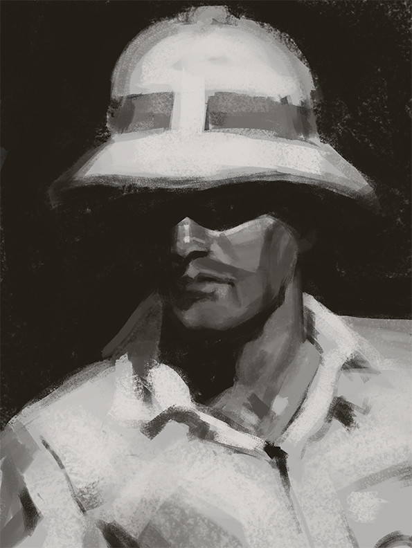Study of a Mead Schaeffer painting