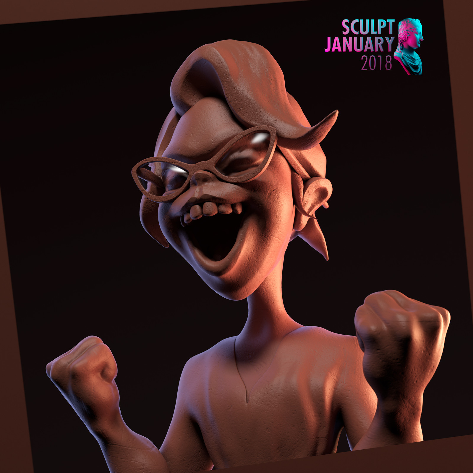 Sculpt January 18 - Day 03 - Excitement