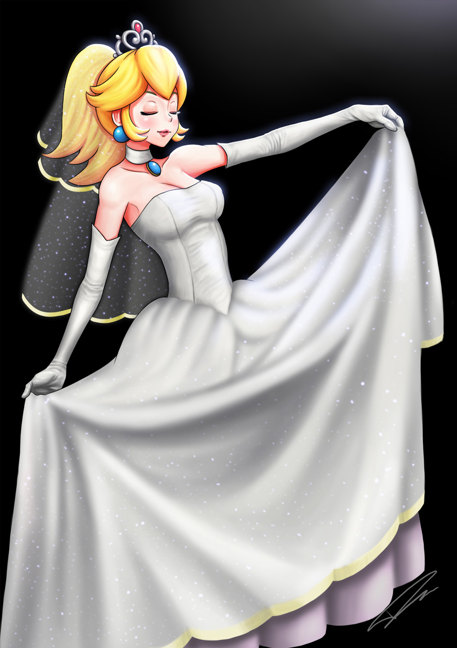 Princess Peach Wedding Dress Off 71 Buy